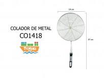 Colador de metal