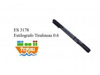 Estilografo tiralineas 0.6 negro