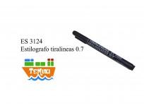 Estilografo tiralineas 0.7 negro