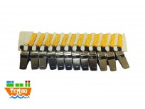 Pitos metalicos x12 unidades