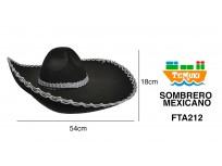 Sombrero mexicano negro