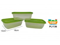 Set 3 bowl plastico